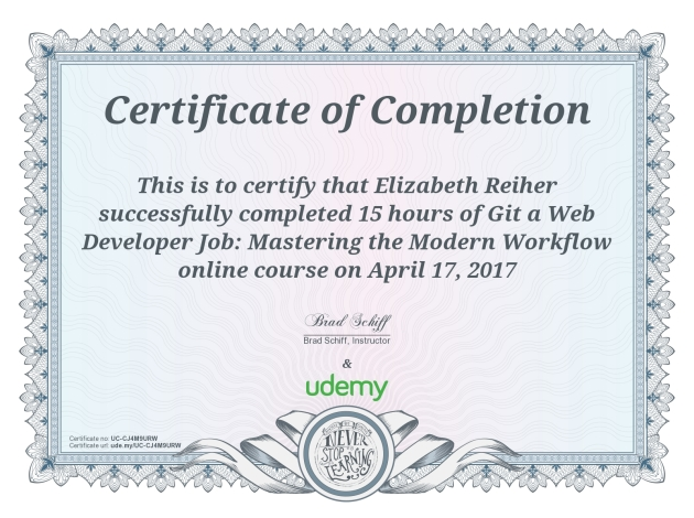 Udemy Course Completion - Git a Web Dev Job -UC-CJ4M9URW