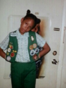 Me with my Girl Scout badges
